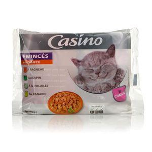 BOITES - PATÉES CASINO Emincés en sauce - à la viande - pour chato
