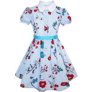 687cae201949a ROBE Sunny Fashion Robe Fille Uniforme scolaire Bleu Dé ...