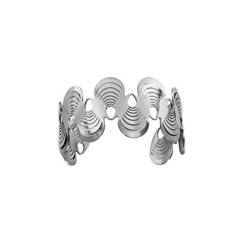 Bracelet acier rigide motifs avec rainures