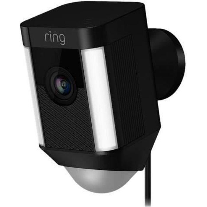 RING Caméra de surveillance filaire Spotlight - Noir