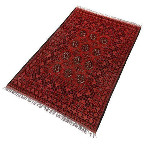 Afghan Bouchara Parwis Tapis 100 X 150 Cm Pure Laine Vierge Rouge