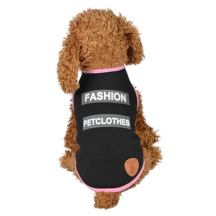 Vêtements Pour Animaux Chiot Col Rond Chemise Santé Gilet Mode @balenced18784