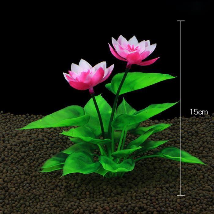 Poissons Décoration Réservoir En Plastique Aquarium Vert Herbe Plantes Eau Ornement Plante Hexqa348