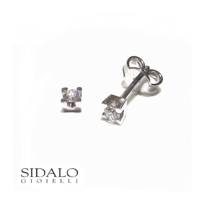 Sidalo - SIDALO BOUCLES doreilles de la LUMIÈRE de lOR 18 KT BRILLANT M43-012