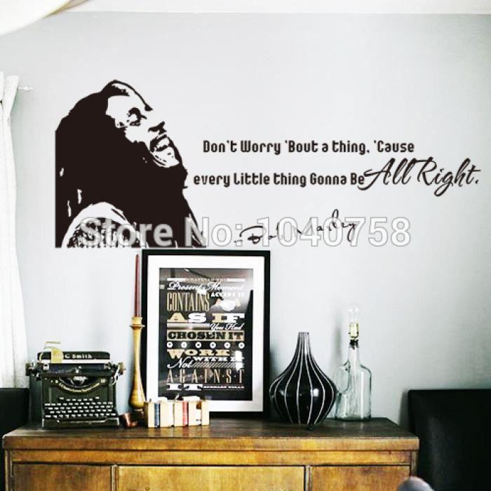 Bob Marley Stickers Muraux Maison Decoration Ne Vous Inquiétez Pas ...