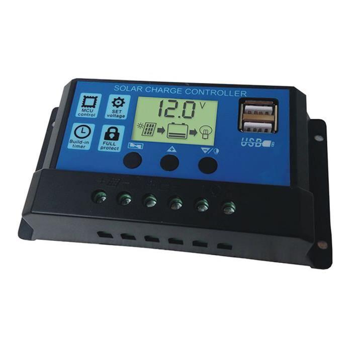 Lampe 30A Régulateur Minuterie 12V 24V Panneaux Solaires Contrôleur Charge  de la Batterie Eclairage Public LED Système Solaire 7c180b5266d4