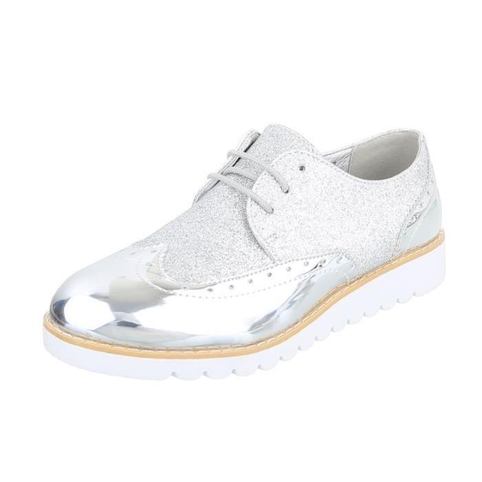 blanc Argent 41 Laceter or Femme Argent Fl Chaussures noir neurs gSPqv1w