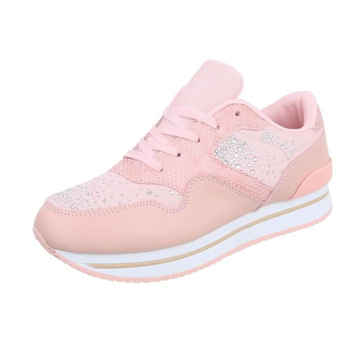 la laque Sneakers pour femmes | Sneaker plat | sportif scintillement Chaussures de loisirs | flâneurs Plateau semelle | Metallic oC4pBNIH9T