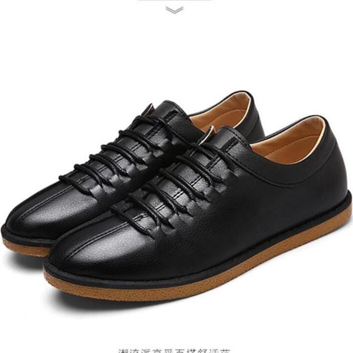 Sneaker hommes 2017 cuir Nouvelle Mode Sneakers homme Grande Taille 39-44 De Marque De Luxe Confortable Respirant chaussure mUIsUUTP