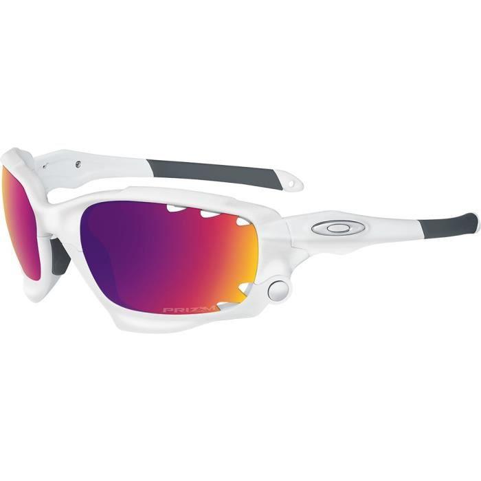 Lunettes de soleil Oakley Racing Jacket Prizm Road Blanc Mat 2 ecrans - 62 a9aa3af8a99b