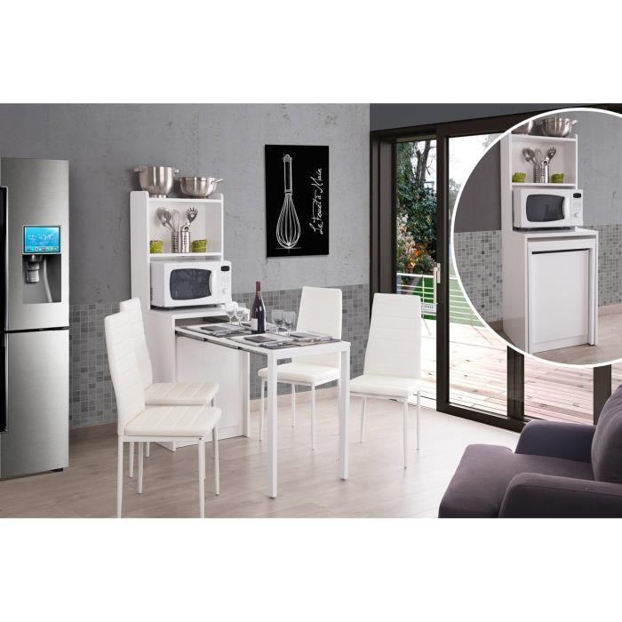 leon console extensible m lamin avec rangement blanc achat vente console extensible leon. Black Bedroom Furniture Sets. Home Design Ideas