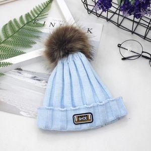 ... CHAPEAU - BOB Nouveau-né Enfants bébé fille Pom Hat hiver chaud ... 38d335ef271