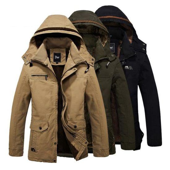 Coupe-Vent Hommes Mode Bureau Veste à capuche de doublure en laine Automne  et hiver Chaud hoodies en cachemire Plus De Couleur M-4XL Rouge Rouge -  Achat ... 582d2c5db19c