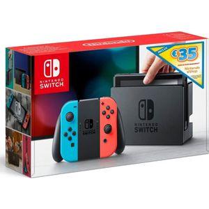 CONSOLE NINTENDO SWITCH Console Nintendo Switch avec Joy-Con bleu néon et