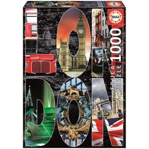 PUZZLE EDUCA Puzzle 1000 Pièces - Collage De Londres