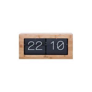 HORLOGE - PENDULE Horloge de table numérique bois de bambou Flip