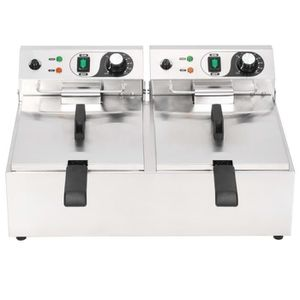 FRITEUSE ELECTRIQUE Friteuse double électrique Acier inoxydable 20 L 6