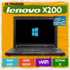 ORDINATEUR PORTABLE PC PORTABLE ULTRABOOK LENOVO  X200 4GO RAM 160 DIS