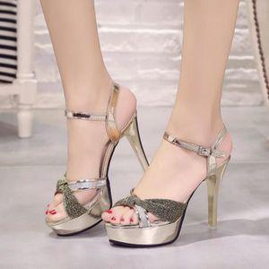 ESCARPIN chaussures à boucle creuse d'été pour femmes avec