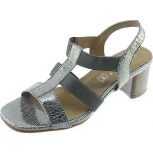 sandale Angelina marques stable cuir chaussures bronze � Femme élastiquée JANITA talon fwF4qxU