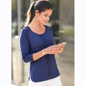 T-SHIRT Tee-shirt asymétrique passementerie dentelle femme