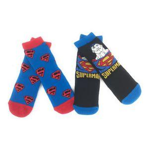 CHAUSSETTES Superman Dc Comics Lot de 2 Chaussons Chaussettes