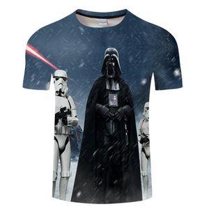T-SHIRT Star Wars T-shirt Homme Imprimé Manches Courtes Fa