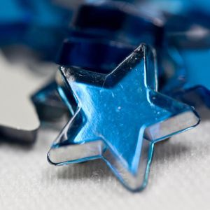 DÉCORATION DE TABLE Lot de 48 étoiles de décoration miroir coloris Tur