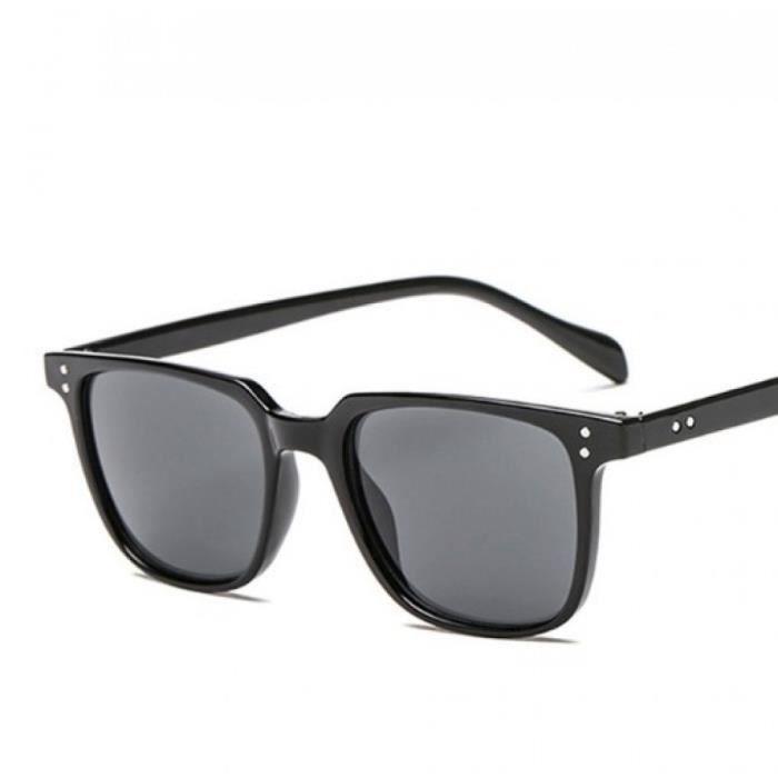 8b372fefce8c8 Lunette homme carré noir - Achat   Vente lunettes de soleil Homme ...