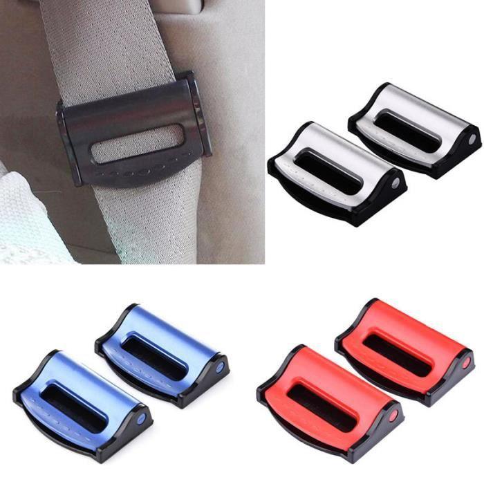 clip pince bloque ceinture de s curit universel bleu blocage auto voiture achat vente. Black Bedroom Furniture Sets. Home Design Ideas