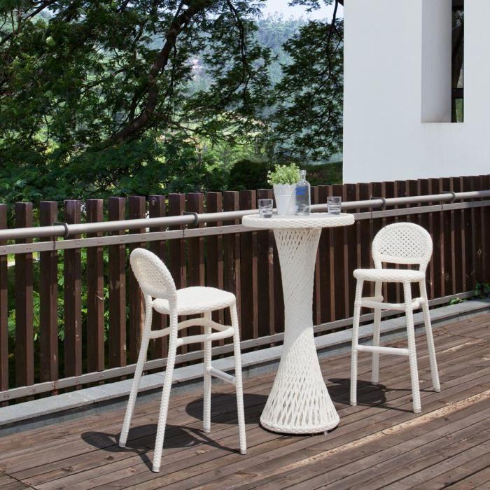 Salon de jardin interieur et exterieur en resine - Achat / Vente ...