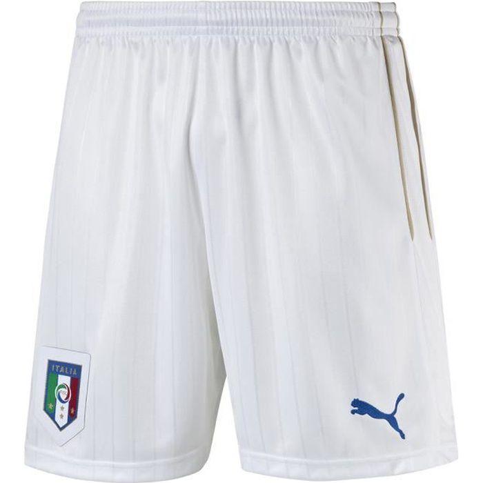 Blanc Foot PUMA homme Short Italie de Domicile nffYHTx