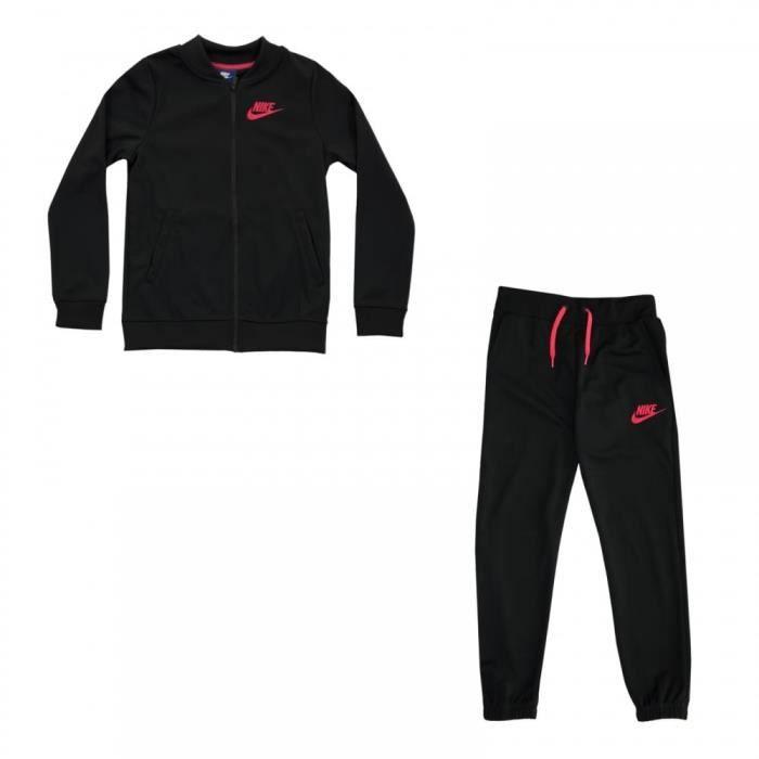 pas cher taille 7 prix réduit Nike - Nike Nsw Trk Suit Tricot Femme Jogging Noir Noir Noir ...