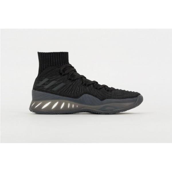 newest 8cd8c 7c5cb Chaussure de Basketball adidas Crazy Explosive Primeknit 2017 Triple Black Noir  pour homme