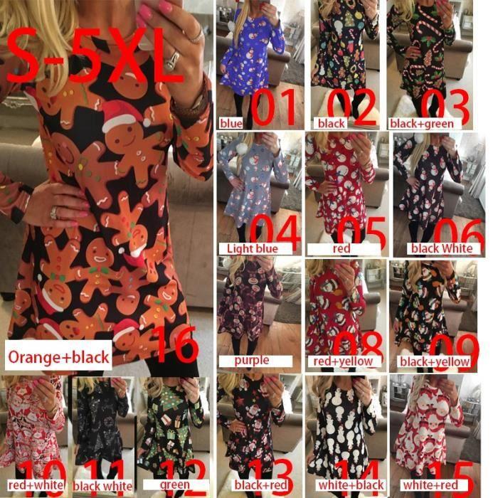 Arbre de Noël Bonhomme de neige de style série de robes (S-5XL)