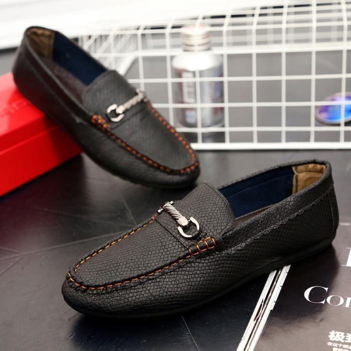 Mode Flats Chaussures Hommes Mocassins Souliers simple en cuir véritable homme Flats Oxford Chaussures Chaussures Hommes Driving