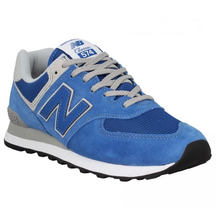 3ea56d903499 Baskets NEW BALANCE 574 velours toile Homme-43-Blue Bleu Bleu ...