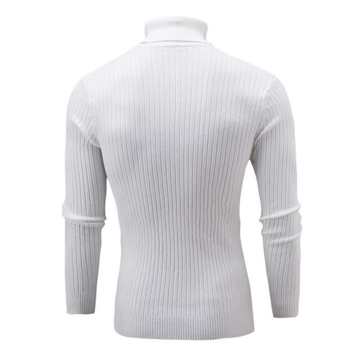 a2a566ae102 Pull col roule blanc homme - Achat   Vente pas cher