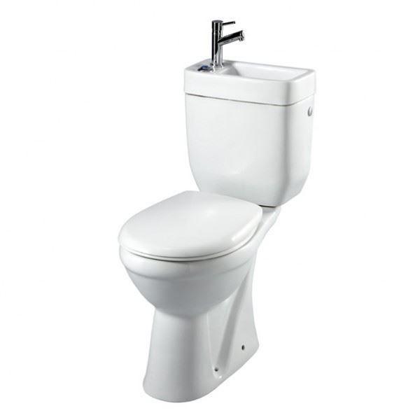 pack wc sur lev sortie verticale avec lave mains int gr achat vente wc toilettes pack wc. Black Bedroom Furniture Sets. Home Design Ideas
