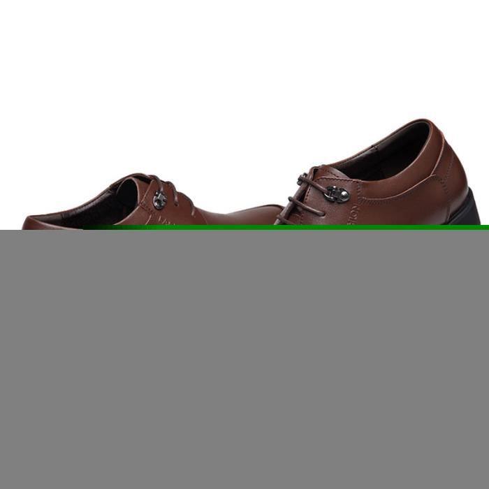 Chaussures Hommes Cuir Confortable mode Homme chaussure de ville HZ-XZ191Marron41