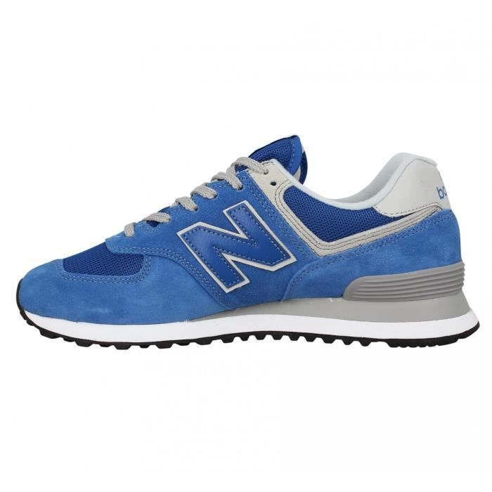 Baskets NEW BALANCE 574 velours toile Homme-43-Blue