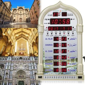 HORLOGE - PENDULE Alarme Prière Horloge Mosquée Calendrier Horloge m