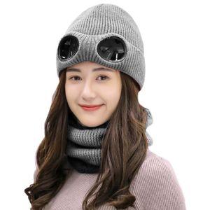 BONNET - CAGOULE BONNET Ensemble de chapeau tricoté hiver épaissi, f2c57abbfab