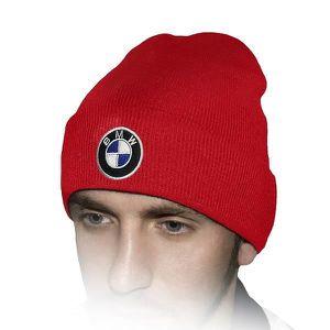 CHAPEAU - BOB BMW Chapeau D'hiver Rouge   Brodé Auto Logo Hommes