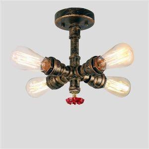 PLAFONNIER Vintage Luminaire Plafonnier Industrielle 4 Spots