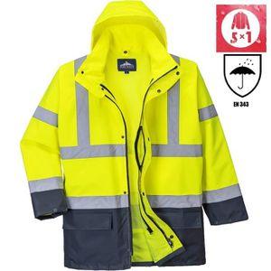 8420856ab28ff PARKA PRO Parka de Travail haute visibilité 5en1 jaune fluo