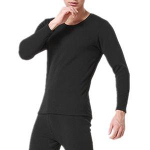 T-SHIRT THERMIQUE Hommes sous-vêtements thermiques ensemble molleton ca7c91989677