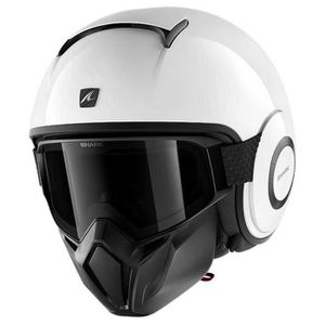 CASQUE MOTO SCOOTER Protections Casques Shark Street Drak Blank