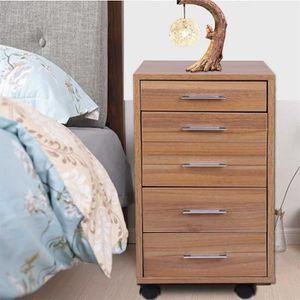 COMMODE DE CHAMBRE Commode bois Armoire meuble de rangement avec 5 ti
