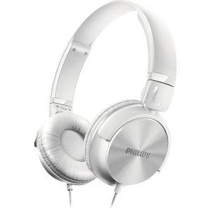 CASQUE - ÉCOUTEURS PHILIPS SHL3000 Casque audio DJ-Style Blanc